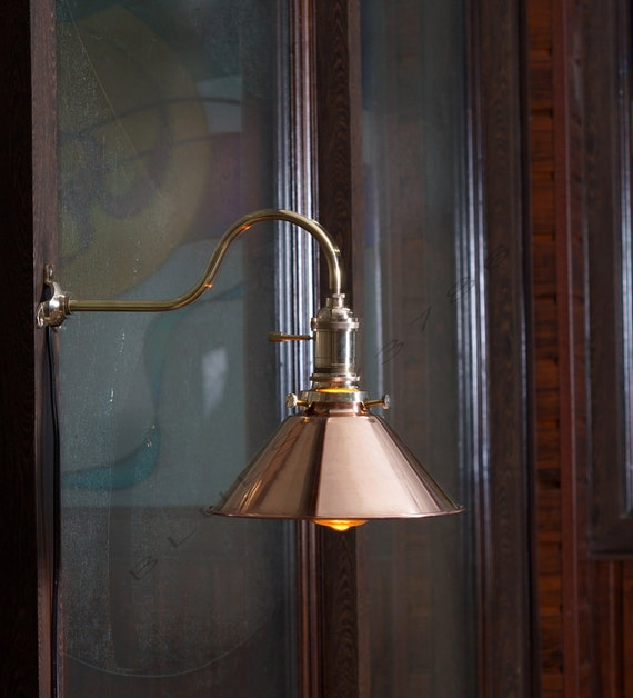 Vintage industrial copper shade wall lamp retro by bluesky3786 for Diy wall lamp shade