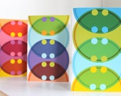 Big Button Print Note Cards - Set of 3