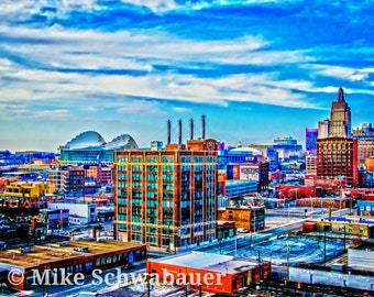 "Kansas City Skyline - Photograph - 11"" x 14"" matted to 16"" x 20"""