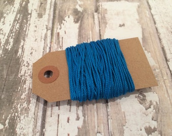 10 Yards of Solid Turquoise Baker's Twine
