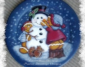 Gingerbread and Snowman Gingers 'N Frosy Winter painting pattern packet instant download