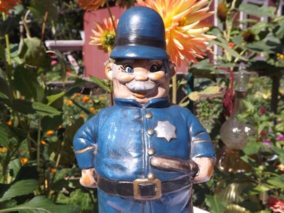 Vintage Ceramic Alberta S Molds Policeman Decanter 1972