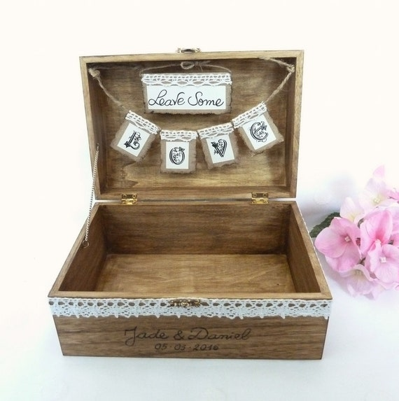 Shabby Chic Rustic Wedding Card Box Rustic Wedding Card Box
