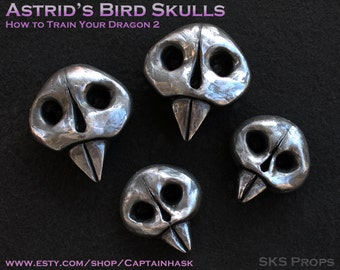 Httyd Astrid Bird Skulls and Spikes for her Cosplay Costume and Skirt