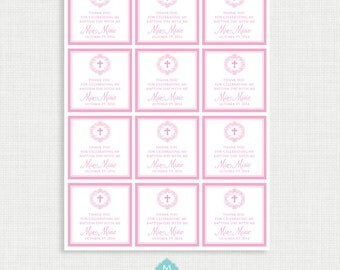 Baptism favor tags thank you gift tags baptism printable printable baptism favor tags favour tags thank you tags christening party tags negle Choice Image