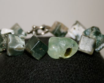 No. 27: Ocean Jasper and Prehnite Bracelet