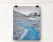 Mendenhall Glacier Stream, Juneau Alaska, Glacial Water, Blue Ice