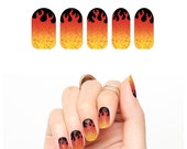When a Fire Starts to Burn - Nail Wraps (Set of 22)