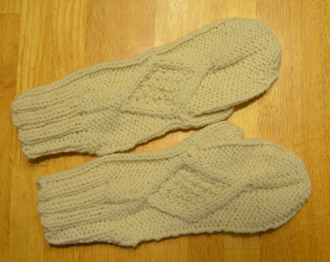 Celtic Diamond Extra Long Mittens