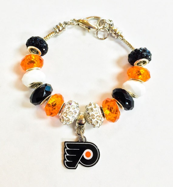 flyers bracelet items similar to philadelphia flyers bracelet on etsy 2617