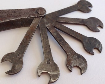 1950s Webmore Made in England Spanner Set, Six Spanners