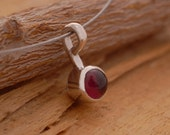 Garnet Pendant Encased in Sterling Silver,  Ruby Red Gemstone Necklace for a Woman, M2676