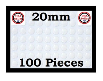 Epoxy Stickers 50/100 You Choose quantity  20MM  Crystal Clear Epoxy Stickers Dome Dot Bubble Scrapbook Scrapbooking Pendant Trays Earrings