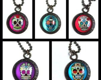 Mexican skull pendant