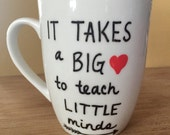 Teacher mug, paraprofessional mug, preschool teacher mug, 15 oz  mug