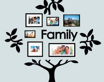 Family Tree Vinyl Wall Sticker Decal (C)