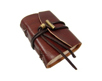 Soft leather book OX Maroon Classic A7 diary book of brand Vicky's World - Made in Germany