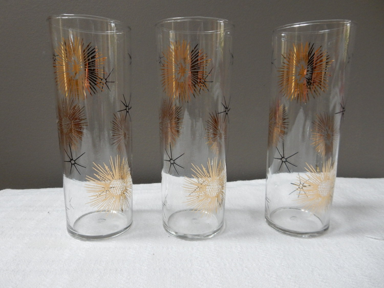 Atomic starburst glasses by notoveritvintage on etsy - Starburst glassware ...