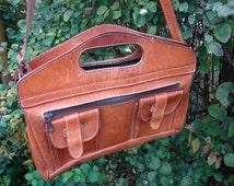 Universite Leather Shoulder Bag, Olive Green