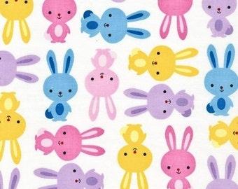One Yard - Urban Zoologie Bunny Rabbits in Spring by Ann Kelle for Robert Kaufman - 1 yard