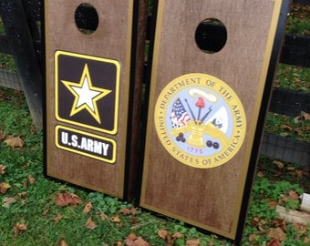 Army Cornhole Boards Etsy