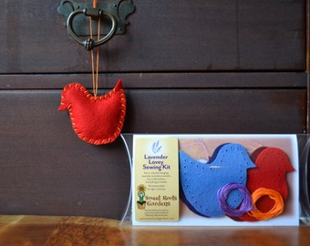Kids Sewing Kit, Two Birds Lavender Lovey
