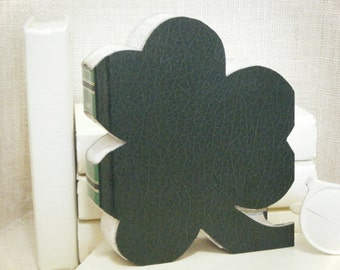 CLOVER SHAPE, Book Art, Shamrock, Irish Gift,, Shamrock Cut-Out, Photo Prop, Cut Book Letters, Anniversary Gift, Clover Book