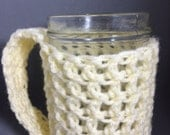 Strappy Drink Sleeve / Bottle / Pint Glass / Mason Jar Cozy - Pearl