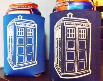 Time Machine Cozies - TARDIS- blue or navy- FREE SHIPPING