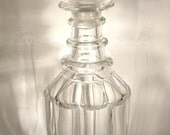 STUNNING Three Ring Decanter 1840-60 Cut Glass Crystal