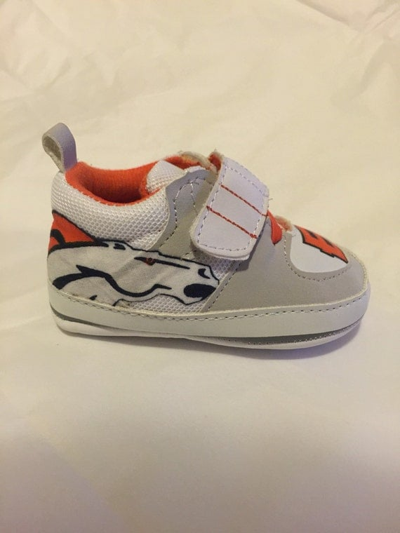 loley pops newest creation denver broncos baby tennis shoes