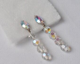 Vintage Lewis Segal Bridal Rhinestone Earrings