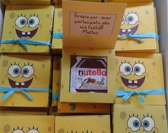 Spongebob Gift box party favors