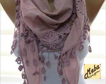 Triangular pink scarf-women scarves - Fashion scarf - gift Ideas For Her Women's Scarves- for her -Fashion accessories