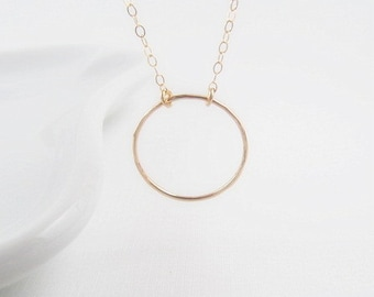 Gold Eternity Necklace, Large, 14kt Gold Filled Necklace, Gift for Her