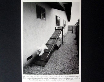 Bill Owens Postcard from 'Suburbia' 1972 Black and White Featuring Tuo-Tuo