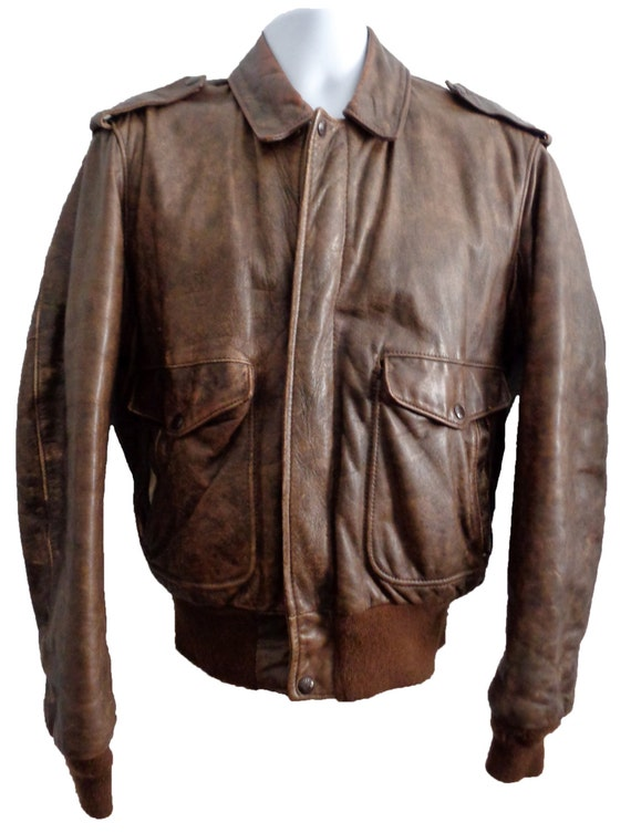 Schott 674 MS Leather A-2 Flight Jacket Men's Size 40 by ...