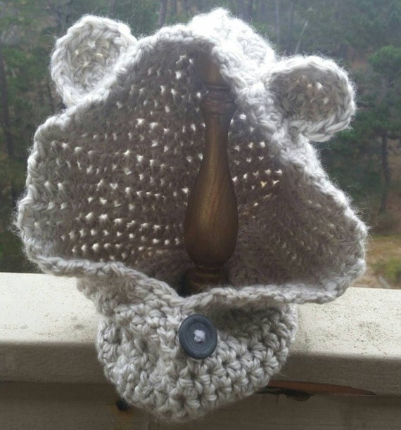 Crochet Baby Bear Cowl Pattern : Crochet Hooded Bear Cowl