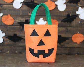 Pumpkin Jack-O-Lantern Trick or Treat Bag