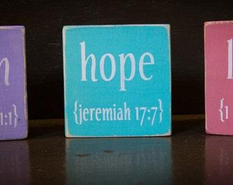 Faith, Hope, Love set - Faith building block
