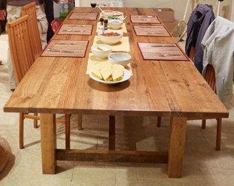 Reclaimed White Oak Dining Table