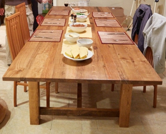 White Oak Table ~ Reclaimed white oak dining table