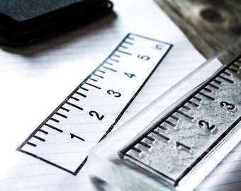 5 Inch Ruler Stamp - 1x5 inch Stamp