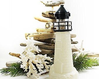 Vintage Lighthouse Decanter Nautical Decanter Collectible Old Spice Container Coastal Home Decor