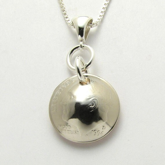 21st 1994 US Dime Necklace Coin Jewelry 21st By CoinCollection