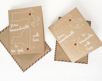 State love greeting card - galentine card - valentine card - friendship card - Love card - Long distance relationship card