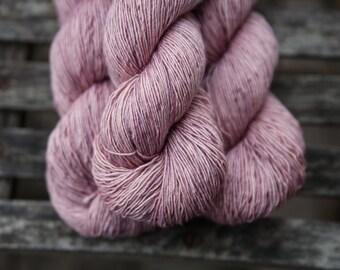 Silk Single Fingering Hand Dyed Superwash Merino Yarn