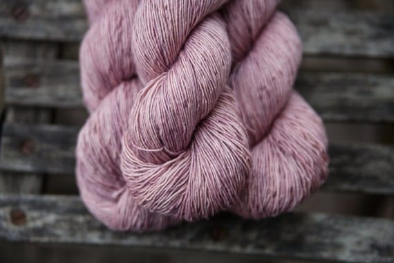 Silk Single Fingering Hand Dyed Superwash Merino Yarn