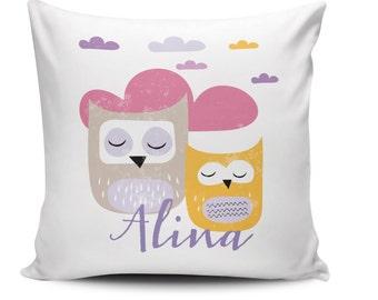 "Throw Pillow ""Owls"""