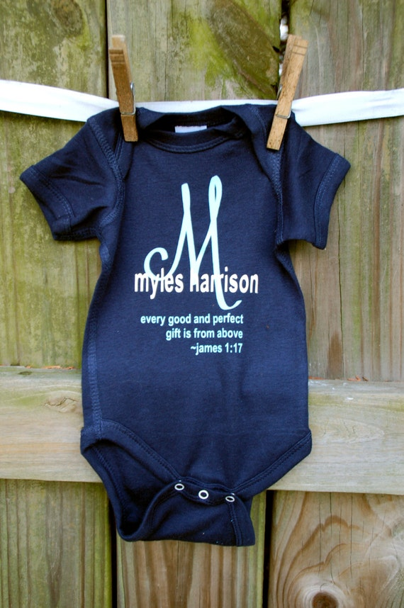 Items similar to Baby Boy Onesie Coming Home Dedication ...